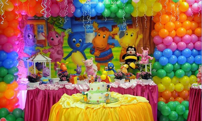 Buffet Eterna Magia - Salvador: Eterna Magia – Rio Vermelho: festa infantil completa para 50 ou 100 pessoas, a partir de 12x sem juros de R$ 274,16