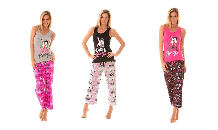 Betty Boop Knit Sleepwear Set: Betty Boop Knit Sleepwear Set. Multiple Colors Available. Free Shipping and Returns.