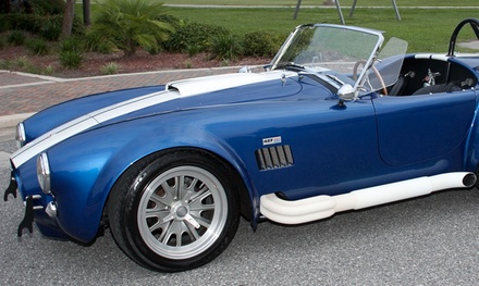 $129 for the Vintage Shelby Cobra Driving Experience from Golden Era Motors ($249 Value)