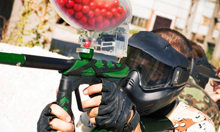 Splatterzone Paintball & Adventure Park - Custer Park: $43 for 2 Person Entry with Basic Rental and 250 Rounds Each ($95 value)