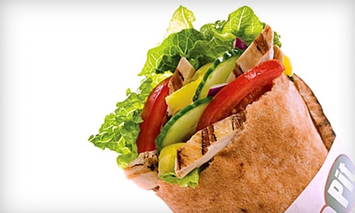 Pita Pit - Riverside: $5 for $10 Worth of Stuffed Pitas and Drinks at The Pita Pit