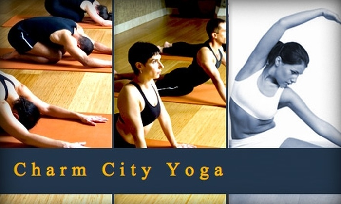 Charm City Yoga - Multiple Locations: $20 for One Month of Unlimited Yoga Classes at Charm City Yoga ($40 Value)