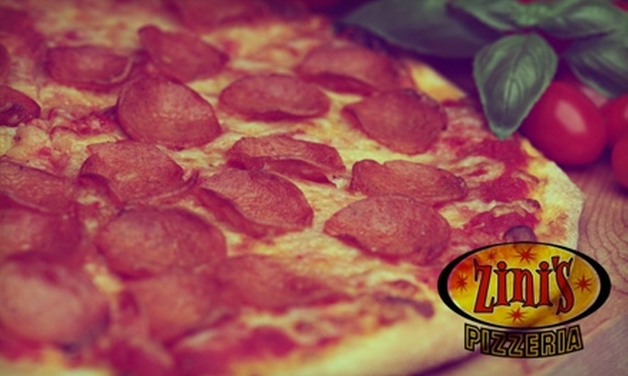 Zini's Pizzeria - Multiple Locations: $9 for $20 Worth of Pizza, Pasta, and Drinks at Zini's Pizzeria