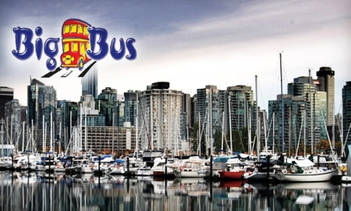 Big Bus - Downtown Vancouver: $22 for an Express City Highlights Tour of Vancouver on Big Bus ($45 Value)