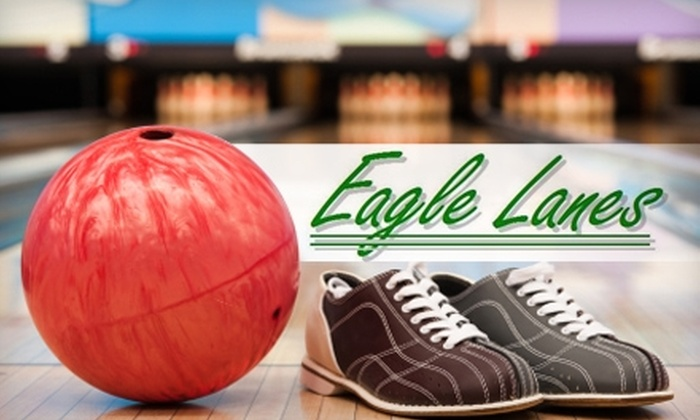 Eagle Lanes - Pleasanton: $8 for Two Games, Shoe Rental, and One Large Pizza at Eagle Lanes in Pleasanton