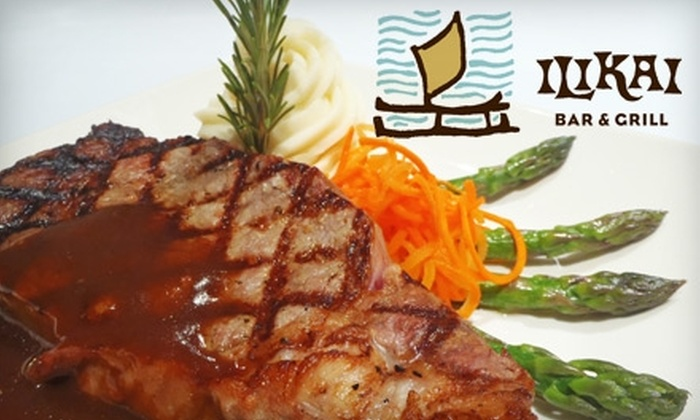 Ilikai Bar & Grill - Waikiki: $20 for $40 Worth of Fusion Fare and Drinks at Ilikai Bar & Grill
