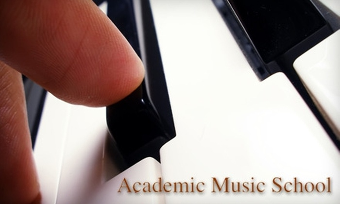 Academic Music School - Multiple Locations: $10 for Two 30-Minute Music Lessons at Academic Music School