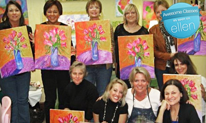Pink Picasso - Downtown: BYOB Painting Class for Four, Six, or Eight or an Open-Art Session at Pink Picasso