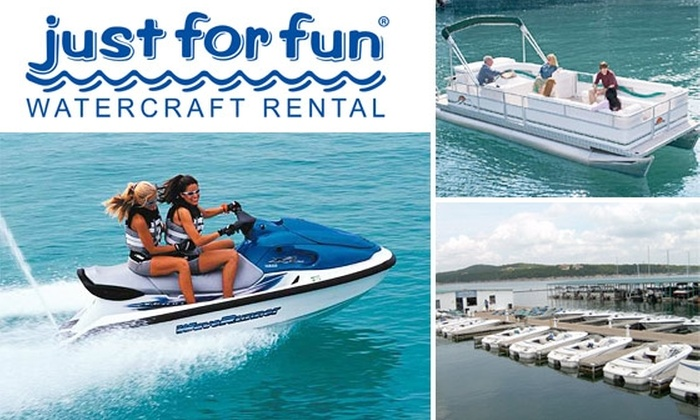Just for Fun Boat Rentals - Travis Southwest: $40 for One-Hour Boat Rental at Just for Fun