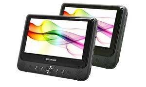 "Sylvania 7"" Dual-screen Portable Dvd Player (manufacturer Refurbished)"
