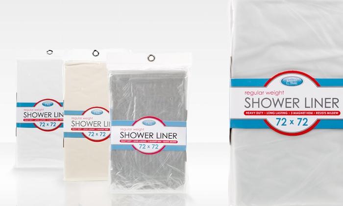 Shower Liner 3 Pack with Magnetic Hems: Shower Liner 3 Pack with Magnetic Hems. Multiple Colors Available.