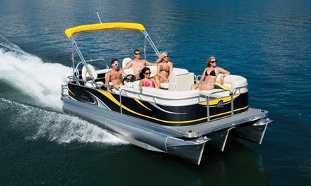 Pontoon-Boat Rental for 8 or 12 from Corporate Tailgate Boat Rental (Up to 56% Off). Three Options Available.