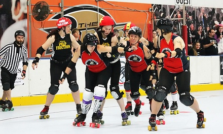 Orange County Roller Girls Roller-Derby Bout, or One Month of Roller-Derby Classes (Up to Half Off)