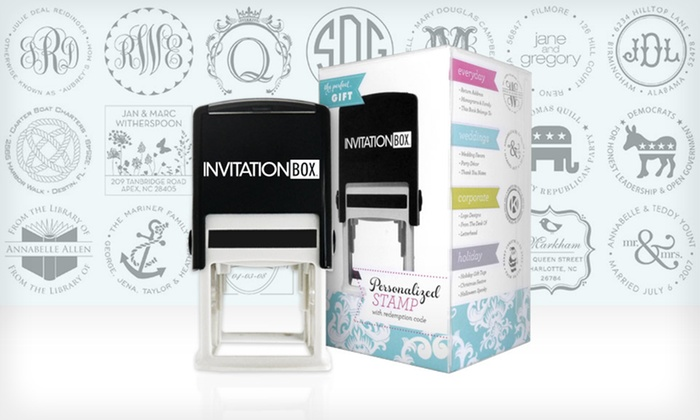 InvitationBox Personalized Self-Inking Stamper: Personalized Self-Inking Stamper from InvitationBox. Free Shipping.