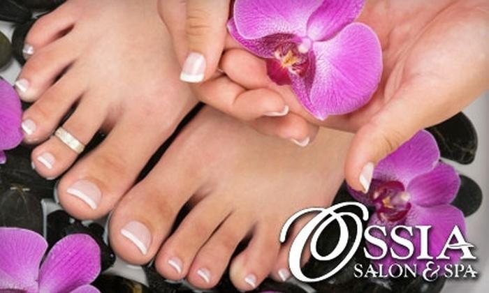 Ossia Salon and Spa - Waterloo: $32 for a Classic Manicure and Signature Spa Pedicure at Ossia Salon & Spa ($80 Value)