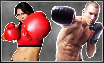 4-Class Kickboxing Package, Including Personal-Training Session and Pair of Boxing Gloves (a $105 value)  - iLoveKickboxing.com in Spencer