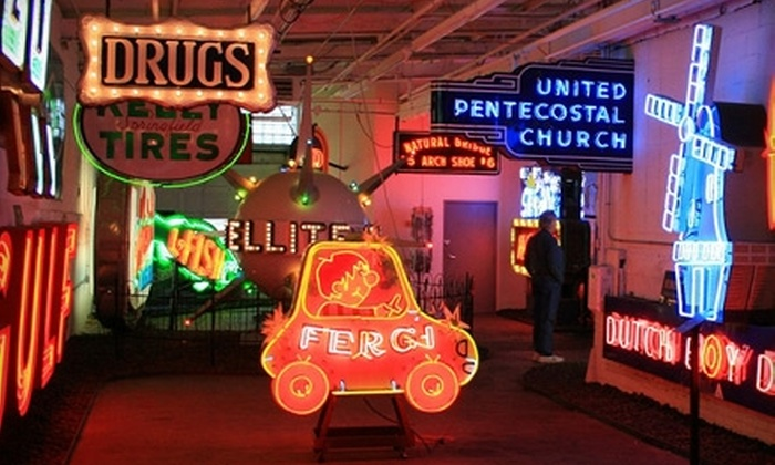 American Sign Museum - Akron / Canton: $30 for Two Adult Admissions, a Coffee-Table Book, and a T-Shirt at the American Sign Museum in Cincinnati (Up to $60 Value)