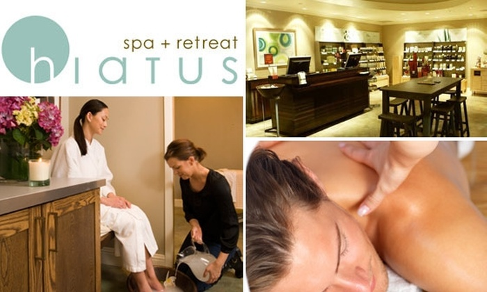 Hiatus Spa and Retreat - Bluffview: $50 Worth of Services at Hiatus Spa and Retreat
