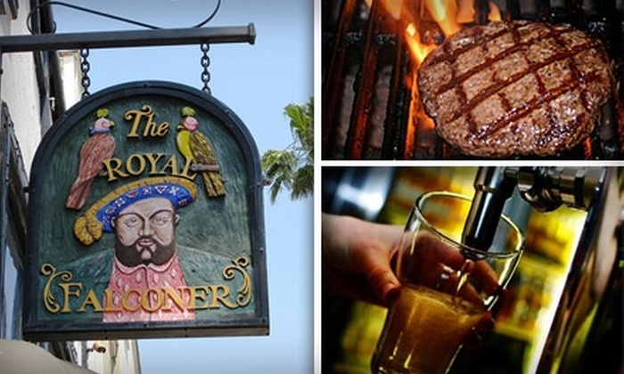 The Royal Falconer - Multiple Locations: $9 for $25 Worth of Savory British Fare and Drinks at The Royal Falconer
