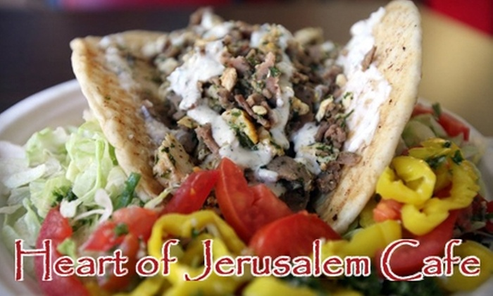 Heart of Jerusalem Cafe - Multiple Locations: $7 for $15 Worth of Middle Eastern Fare at Heart of Jerusalem Cafe