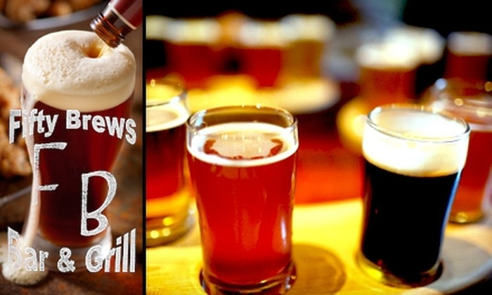 Fifty Brews - Union Park: $17 for a 10-Craft-Brews Card from Fifty Brews
