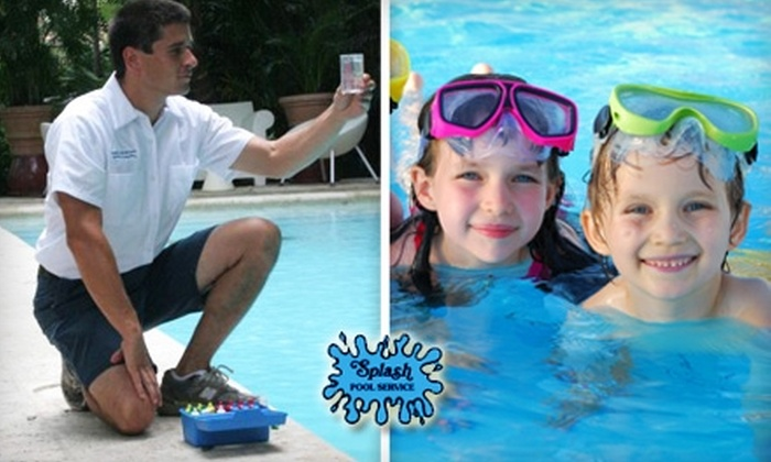 Splash Pool Service - Las Vegas: $20 for One Month of Chemical and Filter Cleaning Service at Splash Pool Service ($91.95 Value)