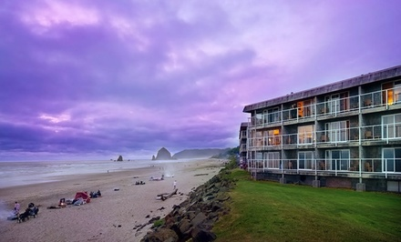 groupon daily deal - Stay at Tolovana Inn in Cannon Beach, OR; Dates into March Available