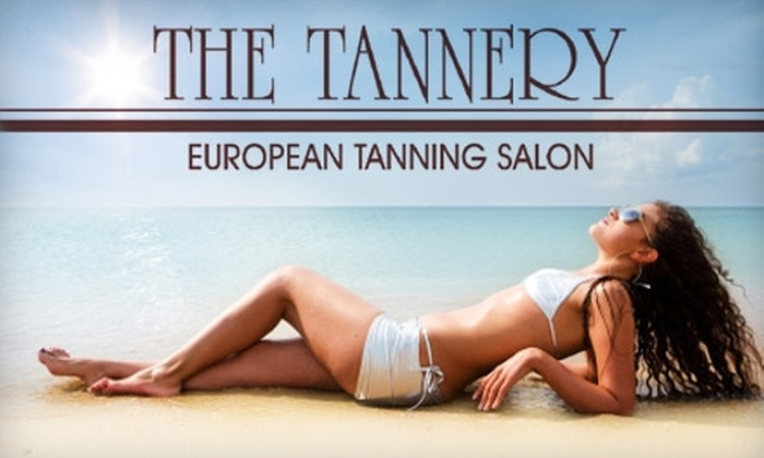 The Tannery - Fresno: $7 for a European Tanning Session ($29 Value) or $20 for a Custom Airbrush Spray Tan ($45 Value) at The Tannery