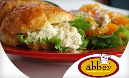$15 Groupon to The Abbey - The Abbey Espresso Bar & Cafe in Belleville