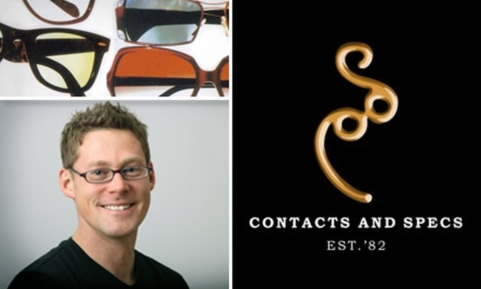 Contacts and Specs - Lakeview: $45 for a Comprehensive Eye Examination, Including Refraction, Health Screening, and Glaucoma Check, and a Trial Pair of Contact Lenses from Contacts and Specs ($119 Value)