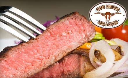 Great American Land and Cattle Company: $40 Groupon for Dinner - Great American Land and Cattle Company in El Paso