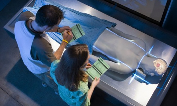 """CSI: The Experience"" - Logan Square: $25 for a Museum Outing for Two to ""CSI: The Experience"" at The Franklin Institute ($51 Value)"
