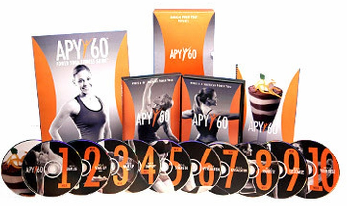APY60: $49 for 12 Instructional Power Yoga DVDs from APY60 ($123.95 Value)