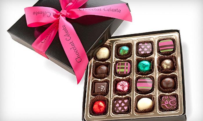 Chocolat Céleste - Hamline - Midway: $22 for a Box of 16 Handmade Artisanal Chocolates at Chocolat Céleste in St. Paul ($44 Value)