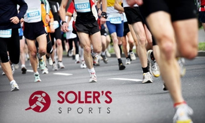 Soler's Sports - Multiple Locations: $25 for $50 Worth of Running and Cycling Products at Soler's Sports. Choose from Three Locations.
