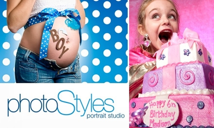 "photoStyles - Lake Formosa: $60 for a One-Hour Photo Shoot, $100 Print Credit, and One 4""x6"" Scrapbooking CD from photoStyles"
