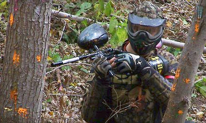Realms of Ruin Paintball & Airsoft Park - Custer Park: $20 for Admission, Equipment, and 500 Paintballs at Realms of Ruin Paintball & Airsoft Park in Custer Park ($45 Value)