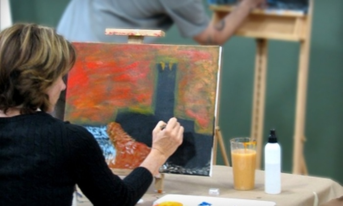 Creative Spirits - Fort Collins: $22 for a Three-Hour Evening Painting Class and Glass of Beer or Wine at Creative Spirits in Fort Collins (Up to $45 Value)