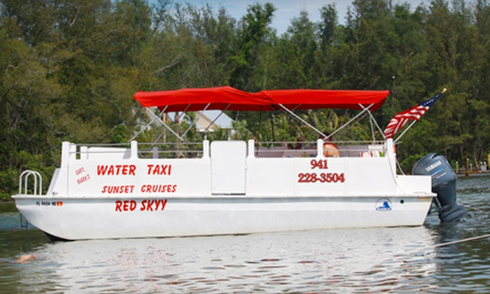 Captain Mark's Water Taxi - Cortez: Sightseeing or Sunset Cruise for Two from Captain Mark's Water Taxi in Bradenton (Up to $60 Value)