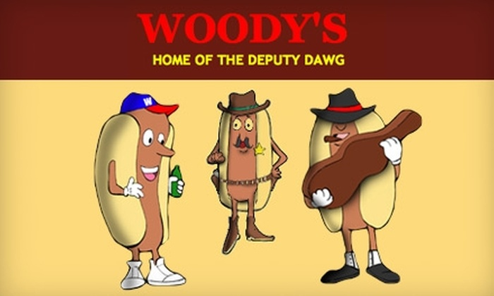 Woody's Hot Dogs - Downtown: $8 for $16 Worth of Hot Dogs, Drinks, and More at Woody's Hot Dogs