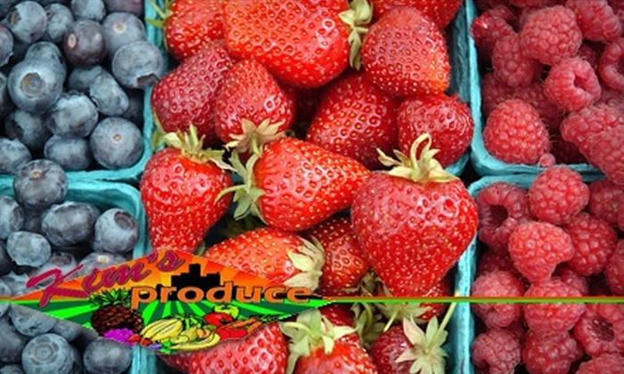 Kim's Produce - University: $10 for $20 Worth of Fresh Produce and Local Groceries Plus a Wrap at Kim's Produce