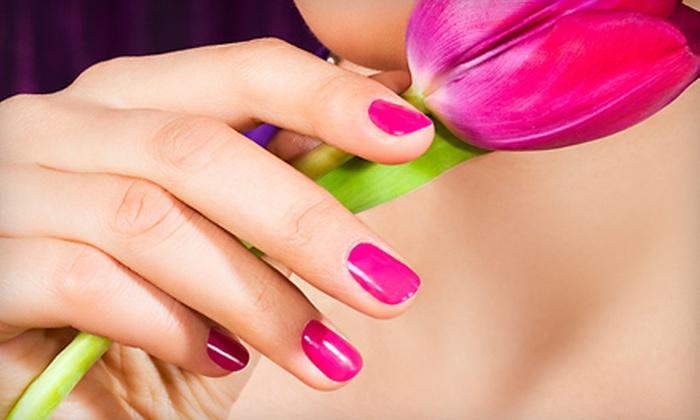 AMP Salon - Norfolk: Eyelash Extensions, Shellac Manicure, or Acrylic Nail Set at AMP Salon in Norfolk