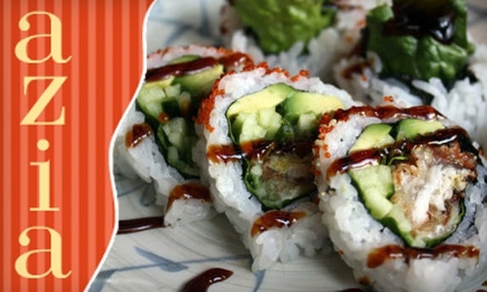 Azia - Downtown Vancouver: $15 for $30 Worth of Asian Cuisine and Drinks at Azia
