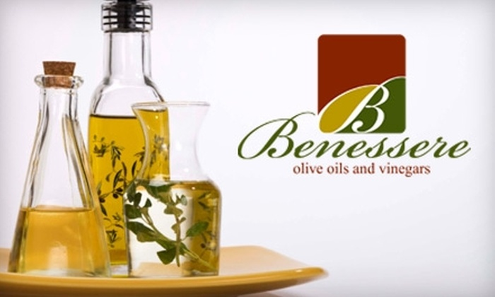 Benessere Olive Oils and Vinegars - Downtown: $10 for $23 Worth of Products at Benessere Olive Oils and Vinegars