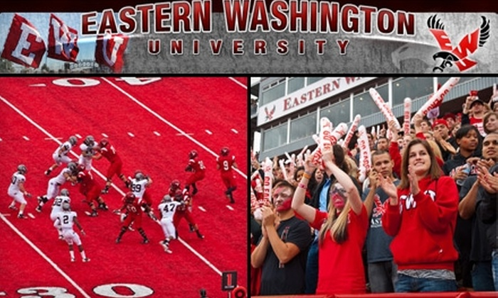 Eastern Washington University Athletics - Cheney: $20 for a Family Pack of Tickets (Two Adults, Three Children) to an Eastern Washington University Football Game ($40 Value). Choose from Four Games.