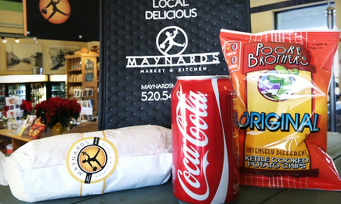 Maynards - Downtown Tucson: $10 for a To-Go Artisan Lunch and Insulated Lunch Bag at Maynards ($20 Value)