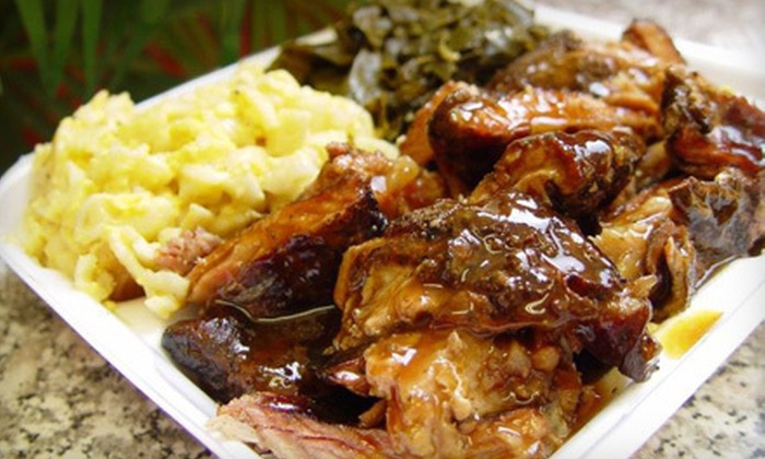 Miss Betty's House of Ribs - East Atlanta: Barbecue Dinner for Two or a March Madness Party Platter at Miss Betty's House of Ribs (Up to 58% Off)