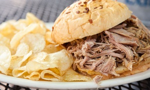 Lookout Bar and Grill: BBQ and Beer for Two or Four at The Lookout Bar and Grill (Up to 60% Off). Four Options Available.