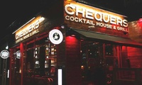 Burger and Cocktail for Two or Four at Chequers Cocktail House and Grill (Up to 54% Off)