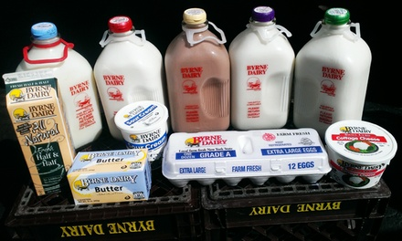 One Month of Glass-Bottled Milk Delivery, Meat Combination Box, or Both from Udderly Delicious (Up to 41% Off)